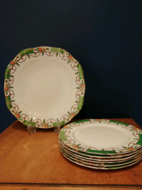 Alfred Meakin Solway Cake plate and 6x side plates