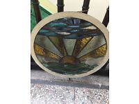 Antique Art Deco Stained Glass Windows