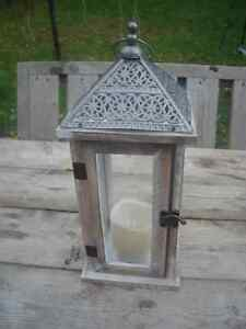 Excellent Condition: Lantern With Battery Operated Candle