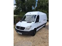 Mercedes Benz sprinter long wheel based and high top