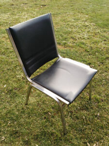 BLACK BANQUET HALL CHAIRS IN GOOD CONDITION: STACKABLE & STURDY