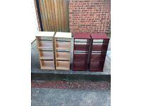 Wooden DVD CD storage units