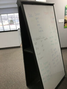 Whiteboard, flannel board, easel stand