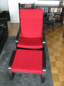 Poang Chair and Stool (Ikea) $90