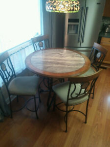 Cafe style table & chairs