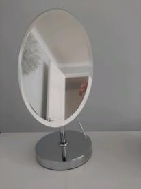 Chrome Oval Make up/Shaving mirror