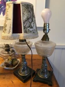 Pair antique lamps REDUCED $30
