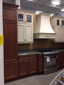 CABINETS, CORIAN COUNTER, SINK, RANGE HOOD & HARDWARE (PAID $40k London Ontario image 2