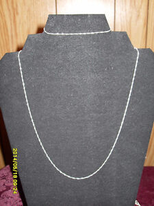 "Silver chain 16"" and matching chain bracelet (.925 stamped)"