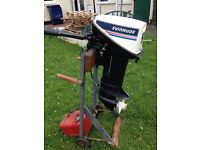 15hp Evinrude outboard motor for boat. similar to Johnston 15