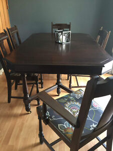 Dinner tables, couches, fireplace, office desk