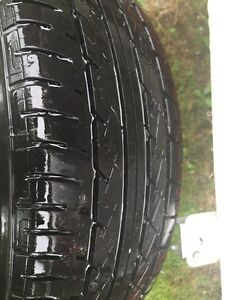 4  almost new summer tires & rims!