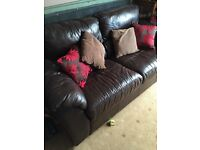 Large 2 Seater settee brown Leather