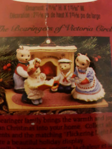 Hallmark The Bearingers w/ Lighted Hearth Display