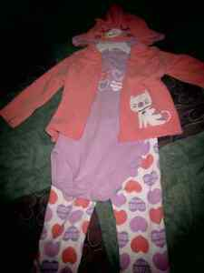 Brand new 12 months, baby girl 3 piece suit