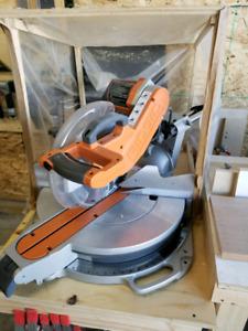 "Ridgid 12"" sliding compound mitre saw"