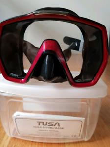 Tusa Freedom HD Mask Metallic Red/Black