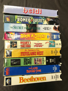 Various VHS movies in soft cases! $1.00 each!