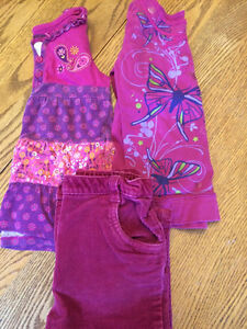 Girls purple pants and tops (2)