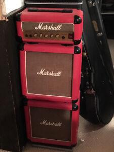 Marshall 3005 Lead 12 Mini Stack (1980's Vintage, Red Tolex)