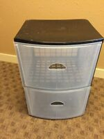 Plastic chest of drawers/dresser