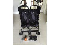 Maclaren Twin Pram / Stroller with Parasols x 2