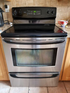 Kenmore stainless steel electric range oven w self clean feature