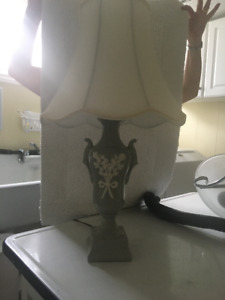 Wonderful Antique Table lamp with Tulip Shade