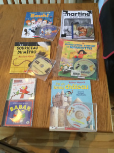 French Audio Books with CD plus 2 Music CD for sale