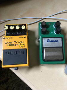 Boss OS-2 and Ibanez TS9DX