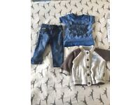 Boys 3-6 month outfits river island next converse