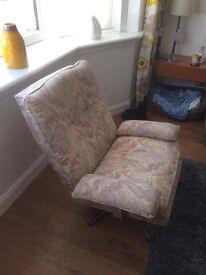 Mid century swivel chair.