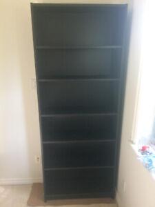 Black Wooden Bookshelf for sale