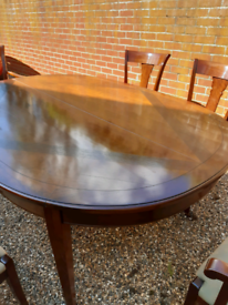 Solid wood di ing table and chairs
