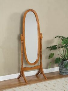 OAK FLOOR MIRROR FOR $80.00