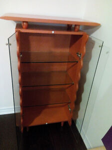 Glass Display Cabinet with Matching Coffee Table