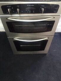 Stainless steel Electrolux integrated electric grill & double fan oven good condition with guarantee