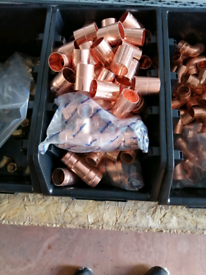Copper 22mm and 28mm fittings, from £1.