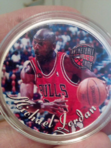 Large 40mm Michael Jordan Hall of Fame Coin.