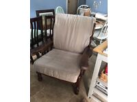 Large armchair shabby chic upcycle project