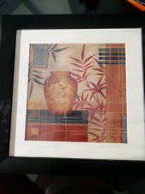 Oriental print or reuse frame