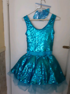 STUNNING BATON TEIRL OR LYRICAL DANCE COSTUME Size S