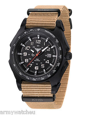 KHS Tactical Watches Sentinel Analog Date German Military Watch KHS.SEAB.NT
