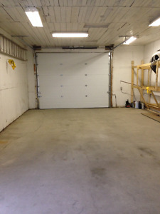 Heated 800 sq foot garage with small office & bathroom!