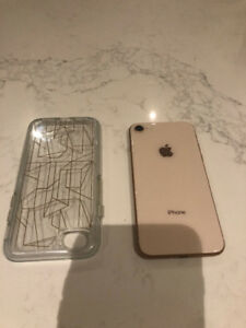Iphone 8 64gb rose gold unlocked - used but perfect condition