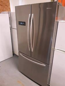 20cu stainless french door fridge like new with waranty!