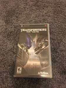 Sony PSP transformers game great condition