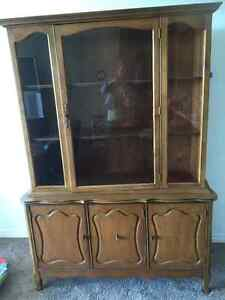 Gorgeous Solid Oak China Cabinet- $80!