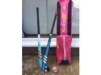 Girls hockey sticks with bag and ball