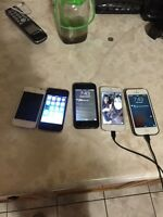 iPhones and a IPod for sale!